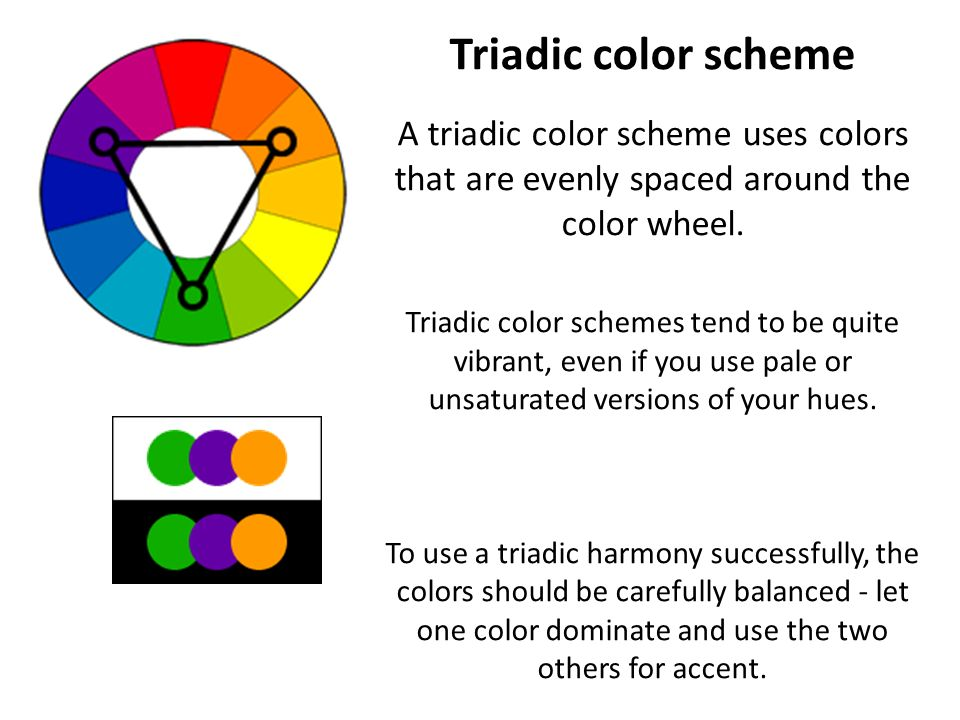 the color wheel color schemes ppt video online download. Black Bedroom Furniture Sets. Home Design Ideas