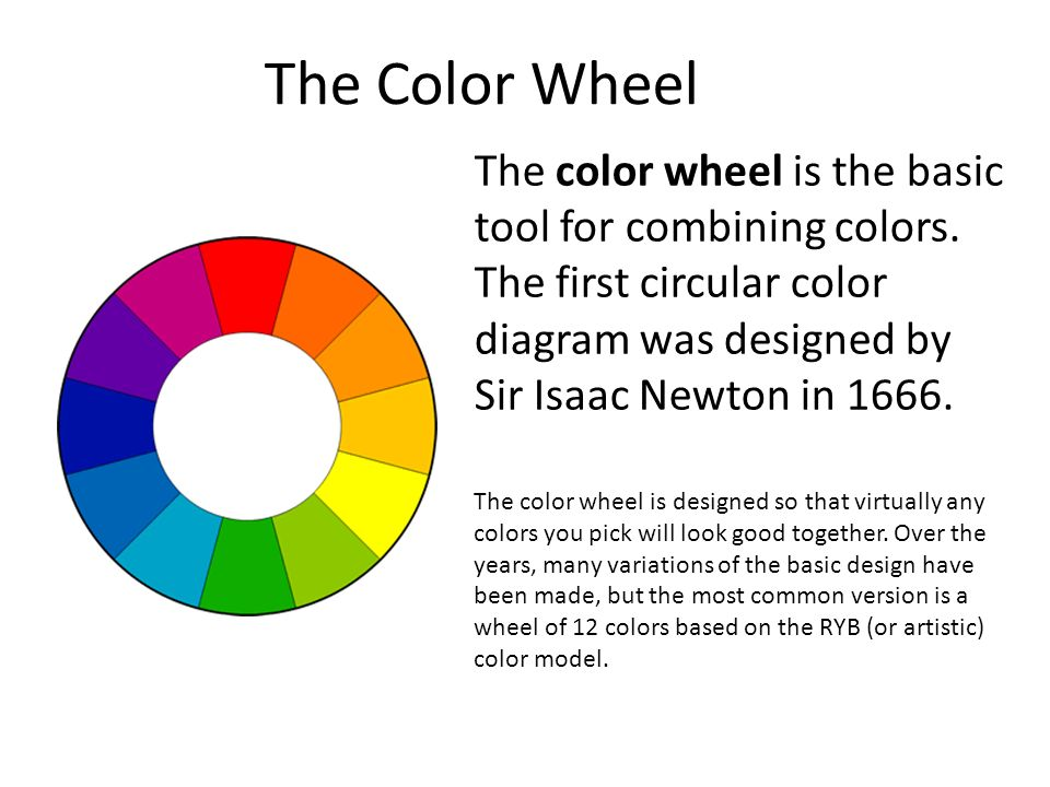The Color Wheel Is Basic Tool For Combining Colors First