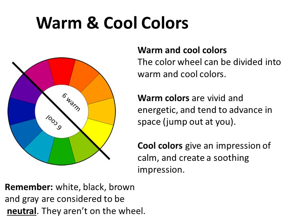 The color wheel color schemes ppt video online download for Cool neutral paint colors