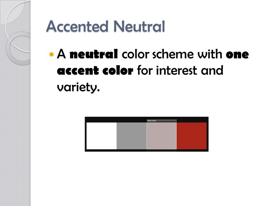 Accented Neutral Color Scheme Wheel