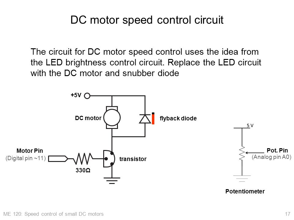 Arduino Application Speed Control Of Small Dc Motors