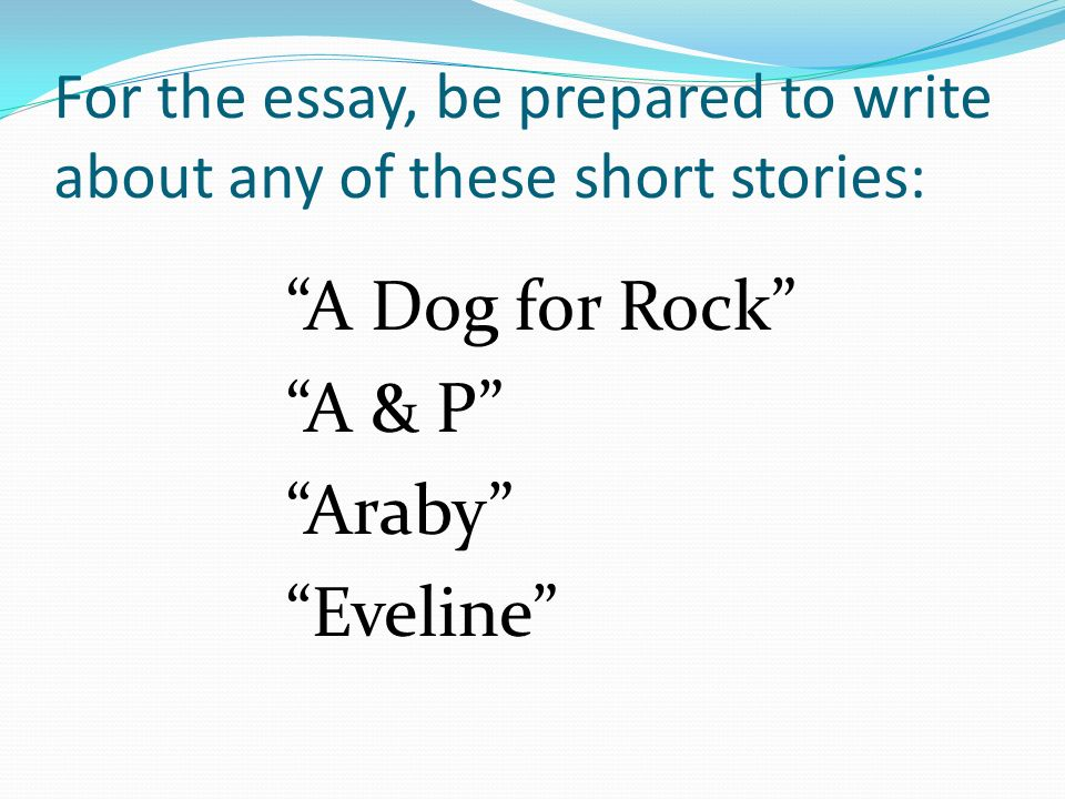 essay about a short story