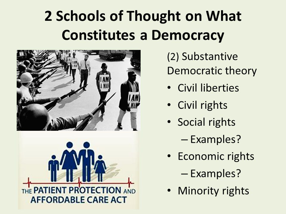 a look at what constitutes a democracy in todays society