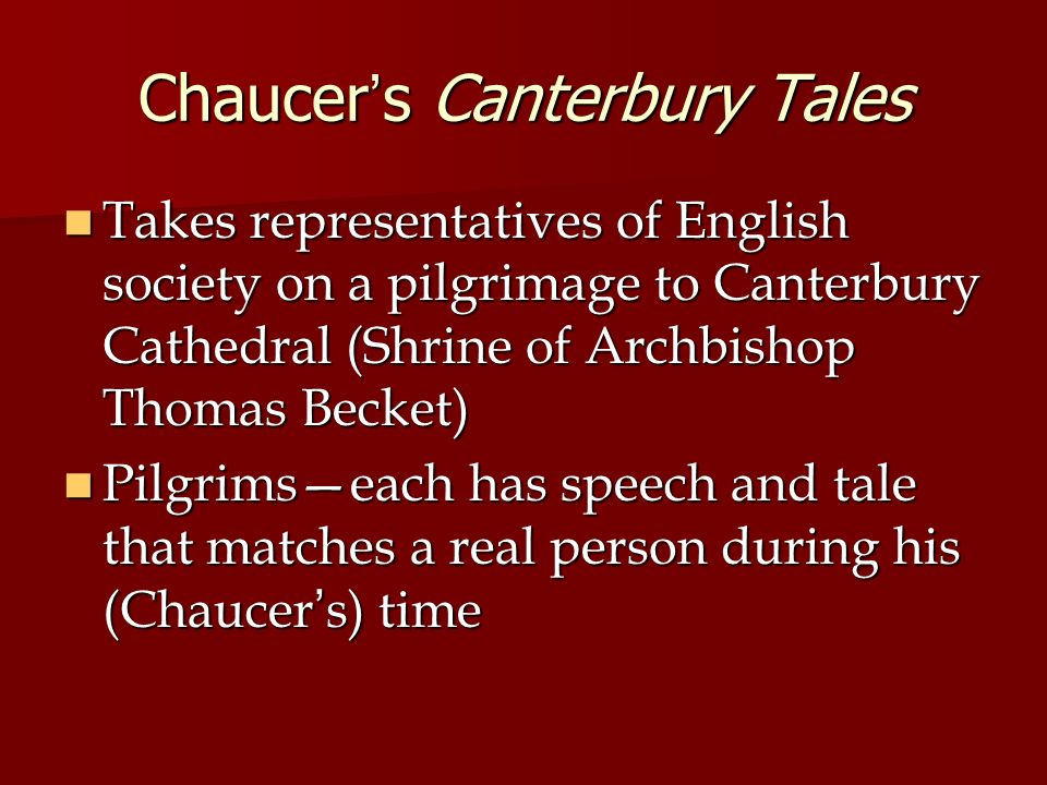 canterbury tales a personal pe essay The canterbury tales by the franklin was an owner of a large estate and lavish personal movie review of canterbury tales canterbury tales possible essay.