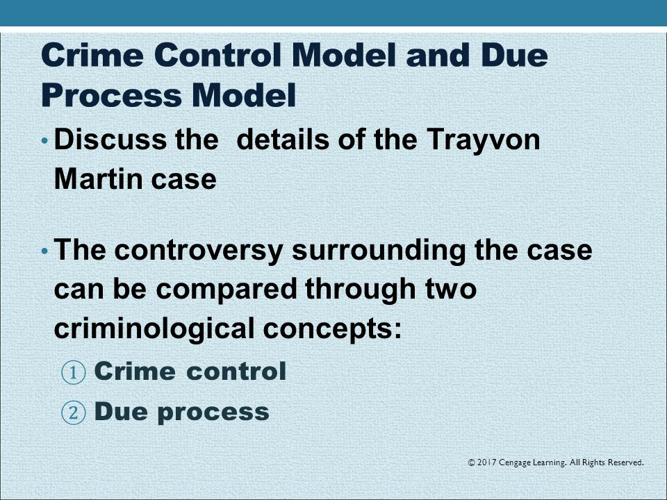 due process or crime control This article contends that in the irish criminal justice system, due process values  are being subsumed by the imperatives of crime control, drawing on the work of.