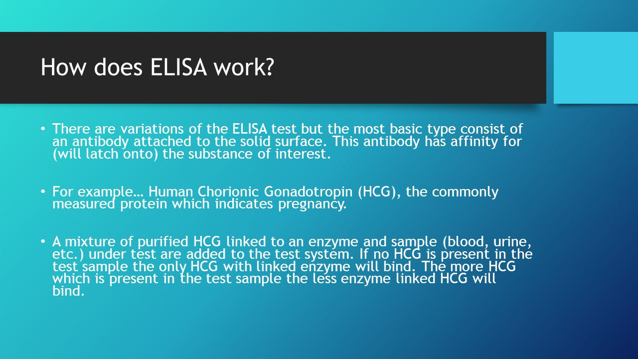 How does ELISA work