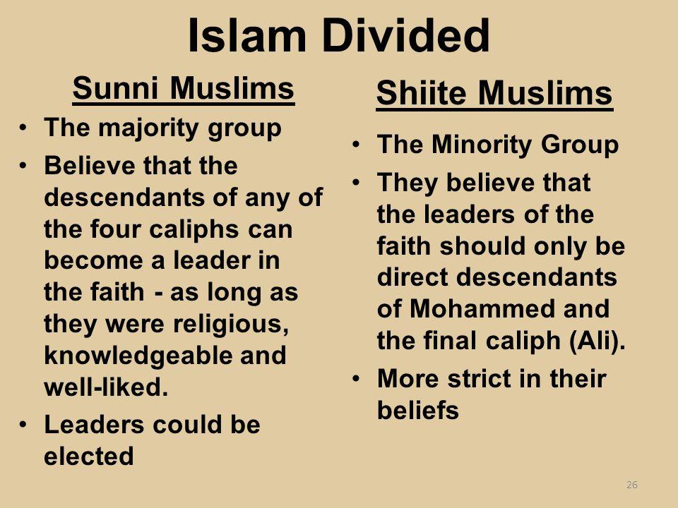 Sunni muslim beliefs dating