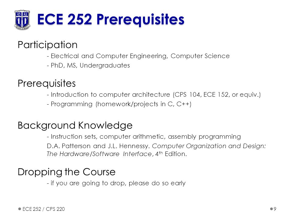 Electrical And Computer Engineering Ppt Video Online Download - Architecture prerequisites