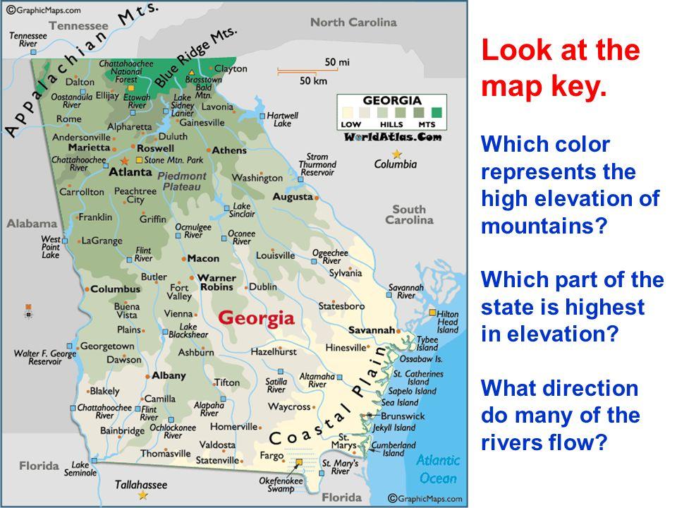 UNIT SSG GEORGIAS GEOGRAPHY SSH EARLY HISTORY Ppt Video - Georgia map elevation