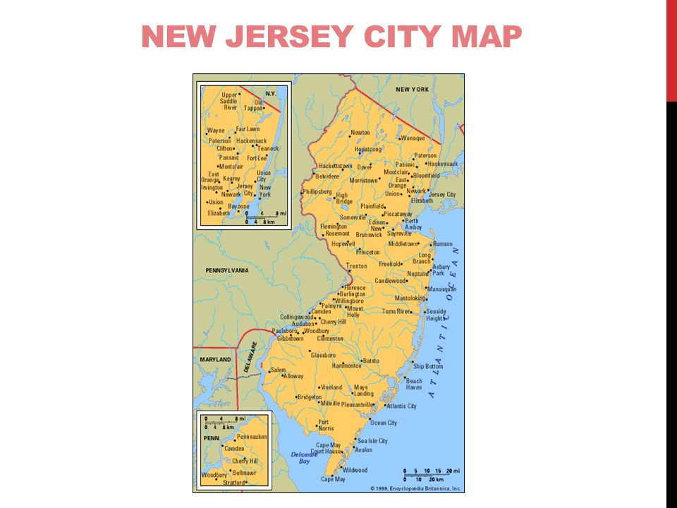 The Four Regions Of New Jersey Ppt Download - New jersey city map