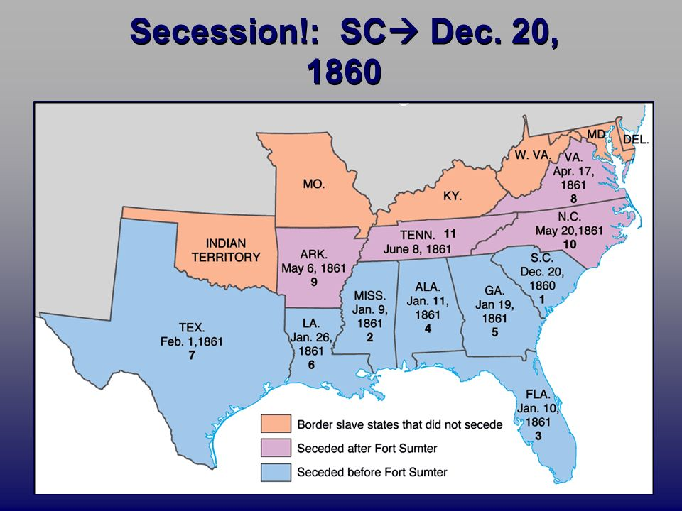 Todays Targets Chapter Lincolns Election Southern - Secession map of us 1860