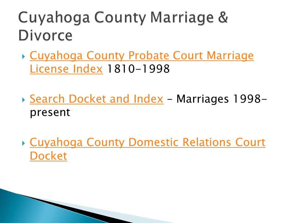 Cuyahoga County Property Court