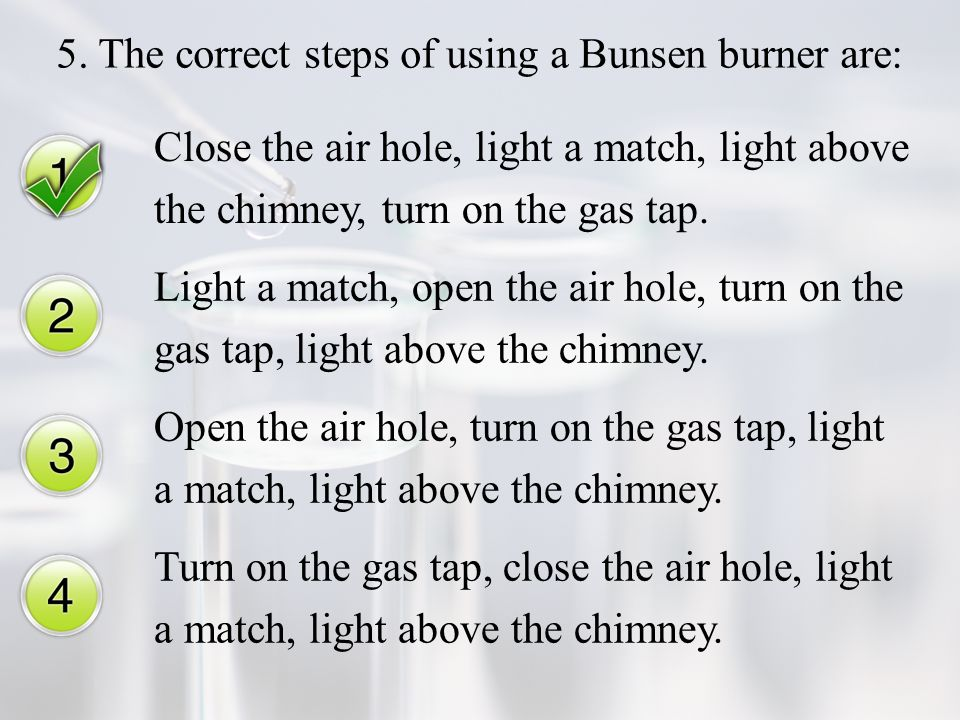how to use a bunsen burner