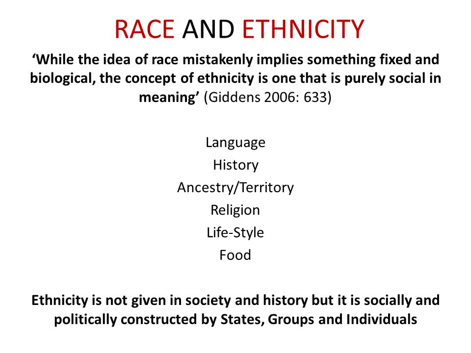 the measure of ones race and ethnicity Introduction to sociology/race and ethnicity from these preceding statements are responses to actual census questions on race and ethnicity from different countries around the globe (and other researchers) still believe that race is a valid and useful measure when understood as.