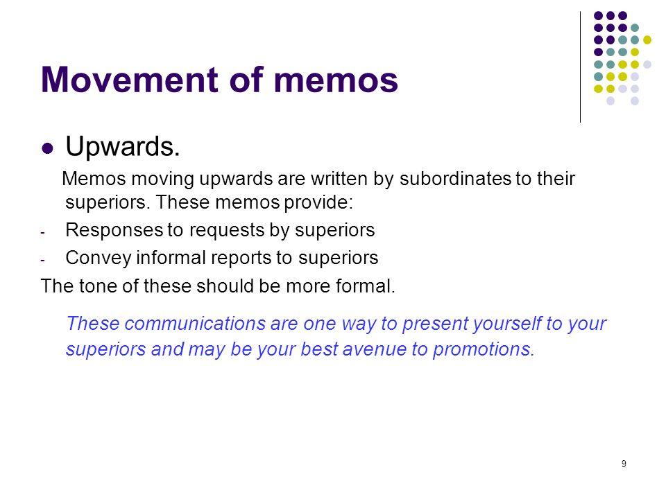 how to write internal memo