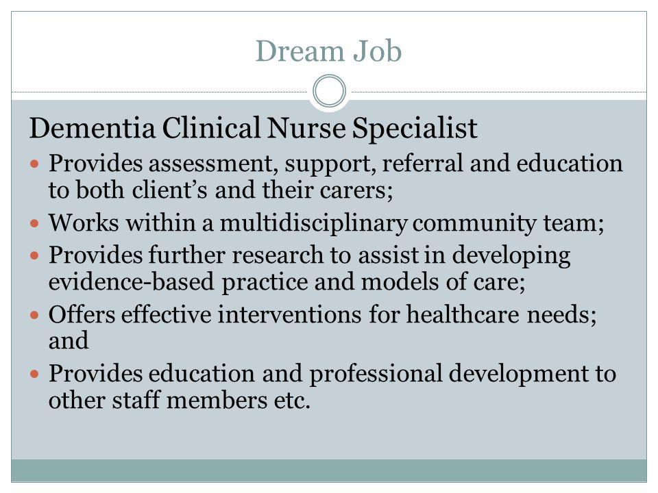 my dream job as a nurse