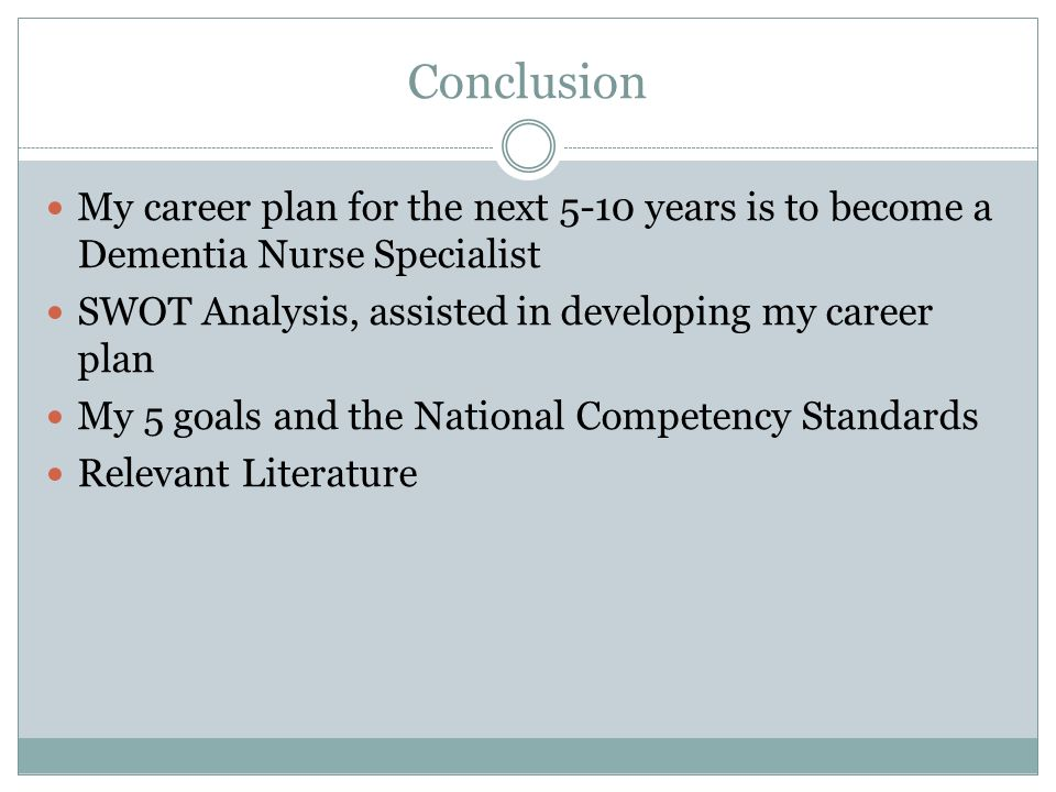 5 year career plan in nursing