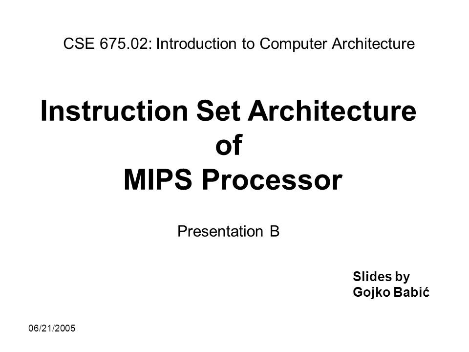 Mips processor instruction set