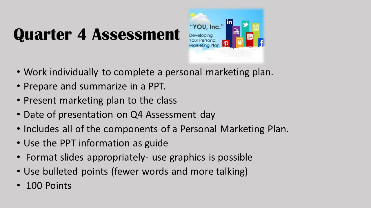 personal marketing plan example