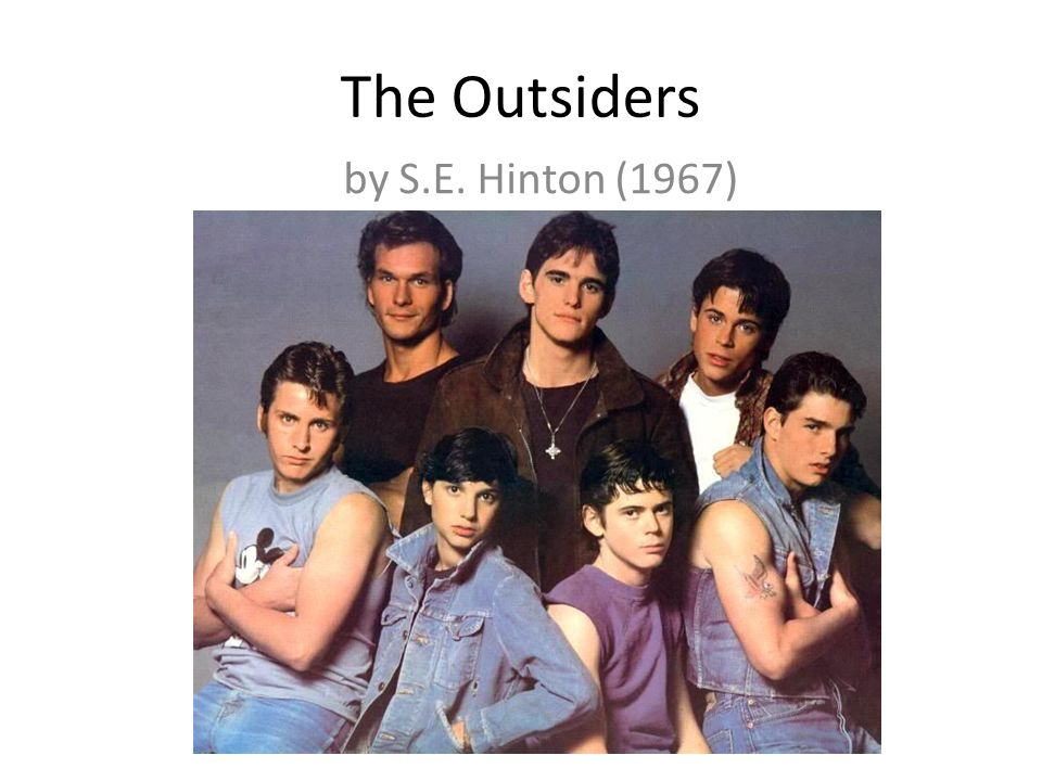 a literary analysis of the theme of the outsiders by s e hinton This free english literature essay on essay: the outsiders by s e hinton, is perfect for english literature students to use as an example.