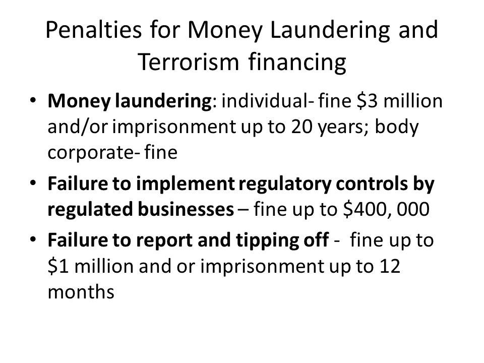 Failure to report money laundering