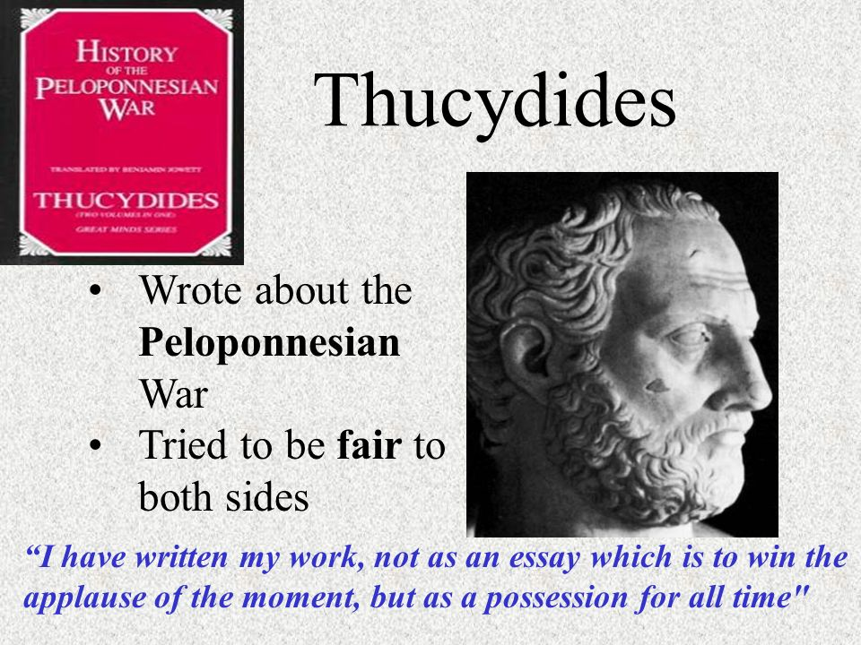 Thucydides history of the peloponnesian war essay