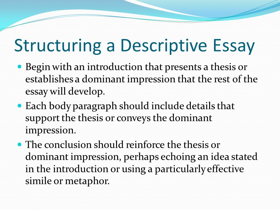 Description and also Intention involving some Illustrative Dissertation