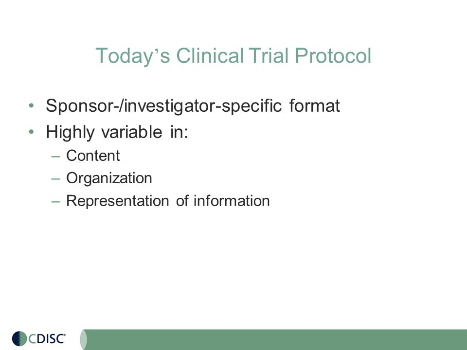 CDISC Protocol Representation Model: Structuring the Content - ppt ...