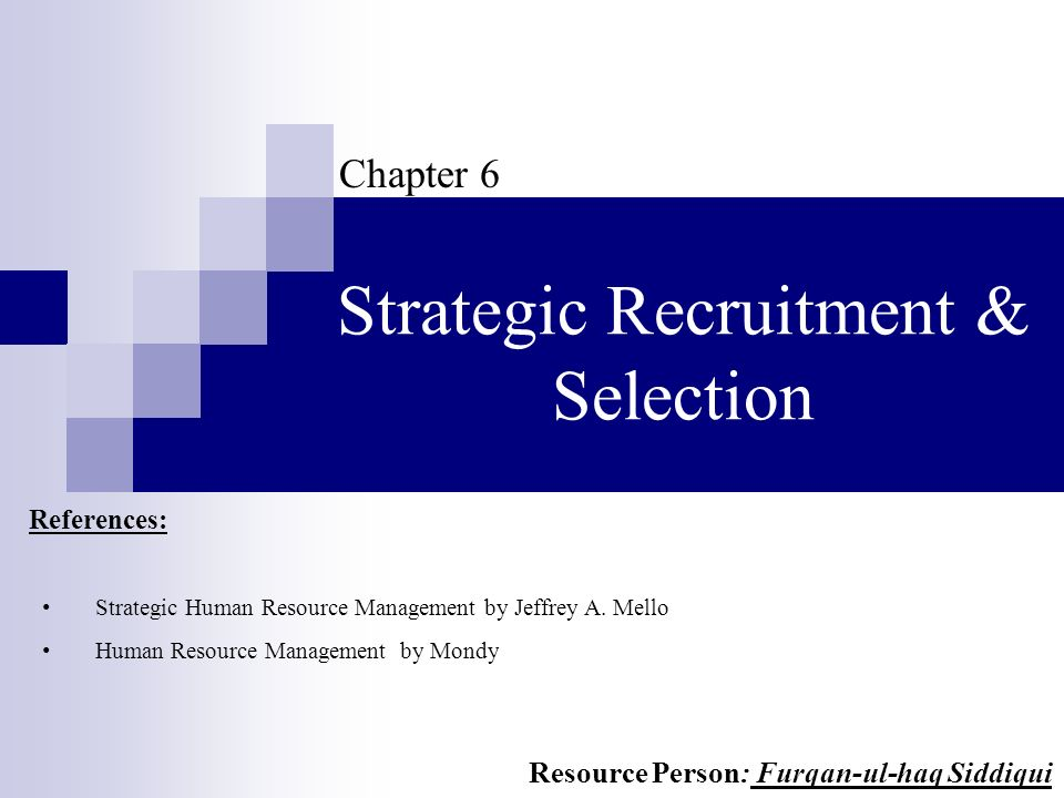 strategic recruitment and selection pdf