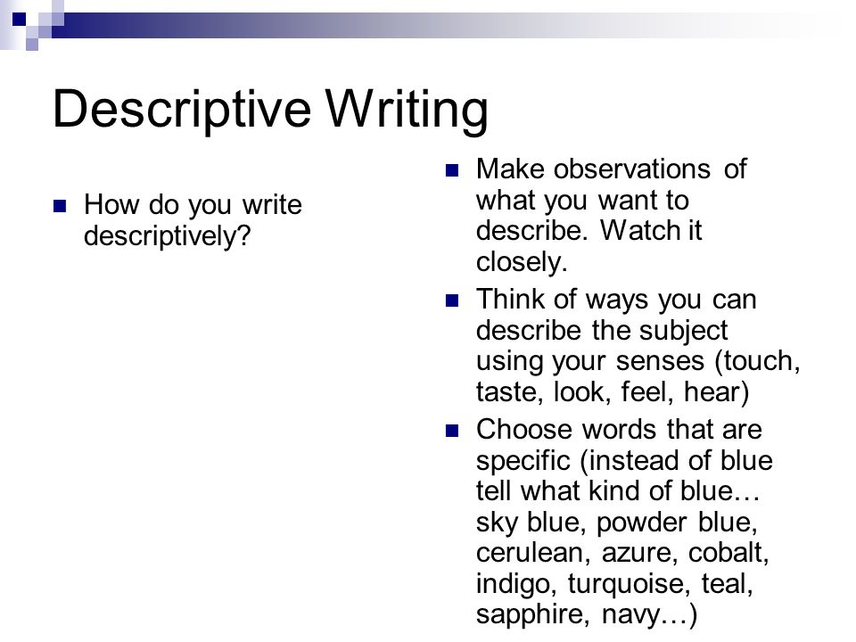 Use Descriptive Writing & Writing Exercises to Avoid Writing a Boring Book
