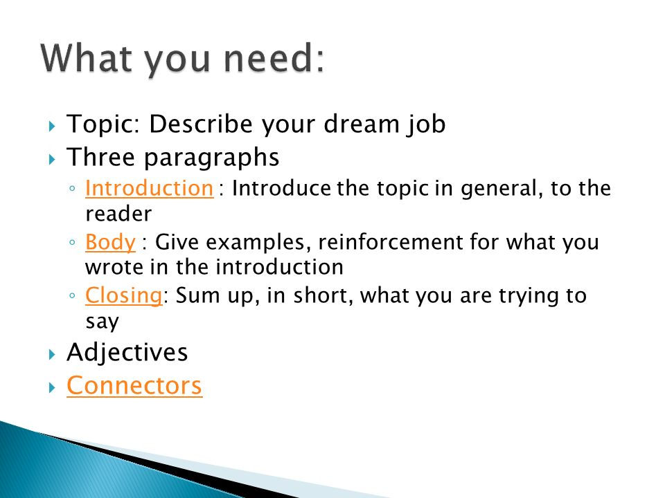 describe your dream job okl mindsprout co describe your dream job