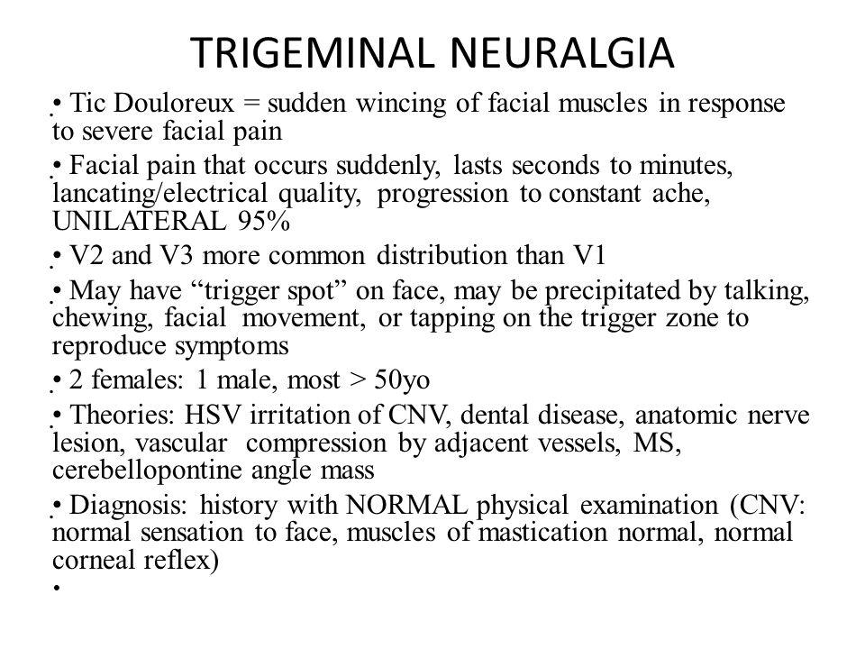 Trigeminal Neuralgia Facial Pain Causes and Treatments