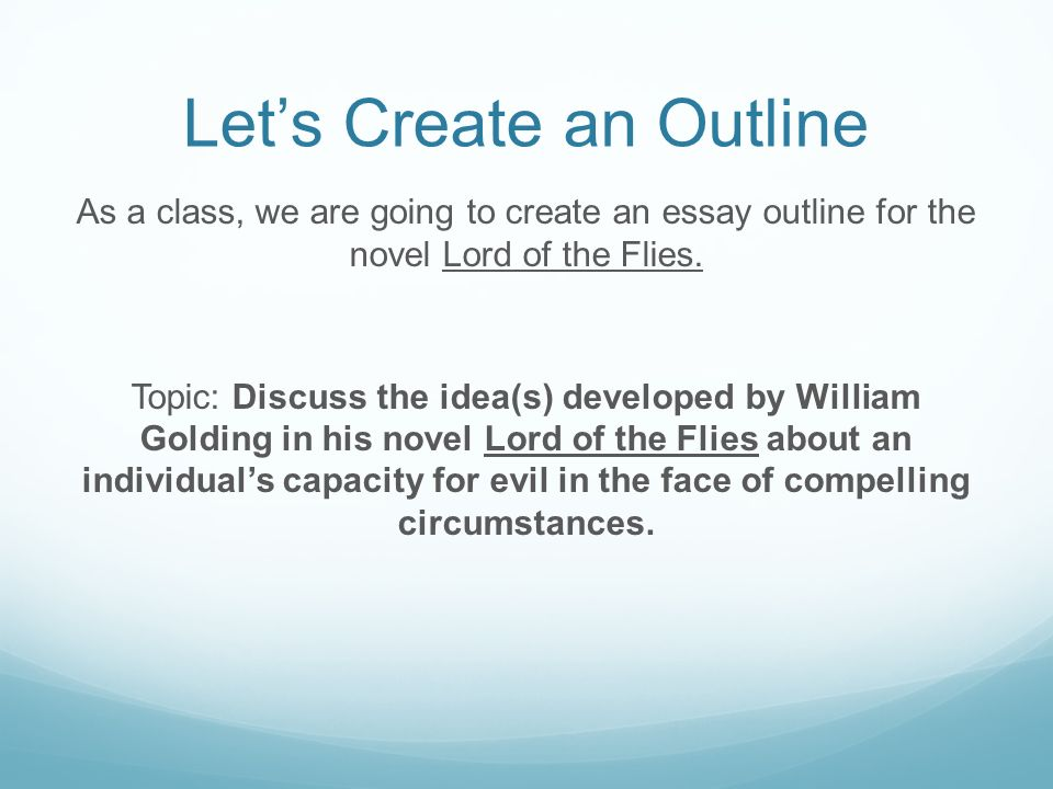 critical analytical response to literature ppt video online  let s create an outline