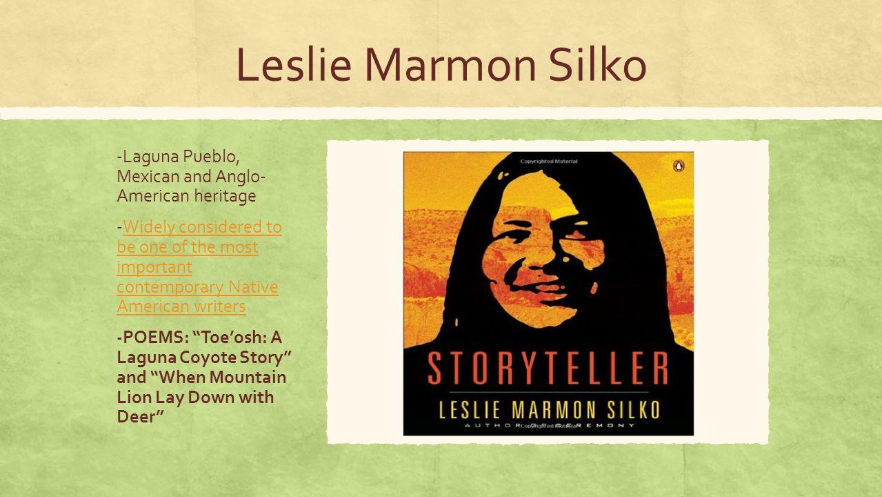 "leslie silko poem analysis Prayer to the pacific by leslie marmon silko: leslie marmon silko's poem ""prayer to the pacific"" uses several different literary devices."