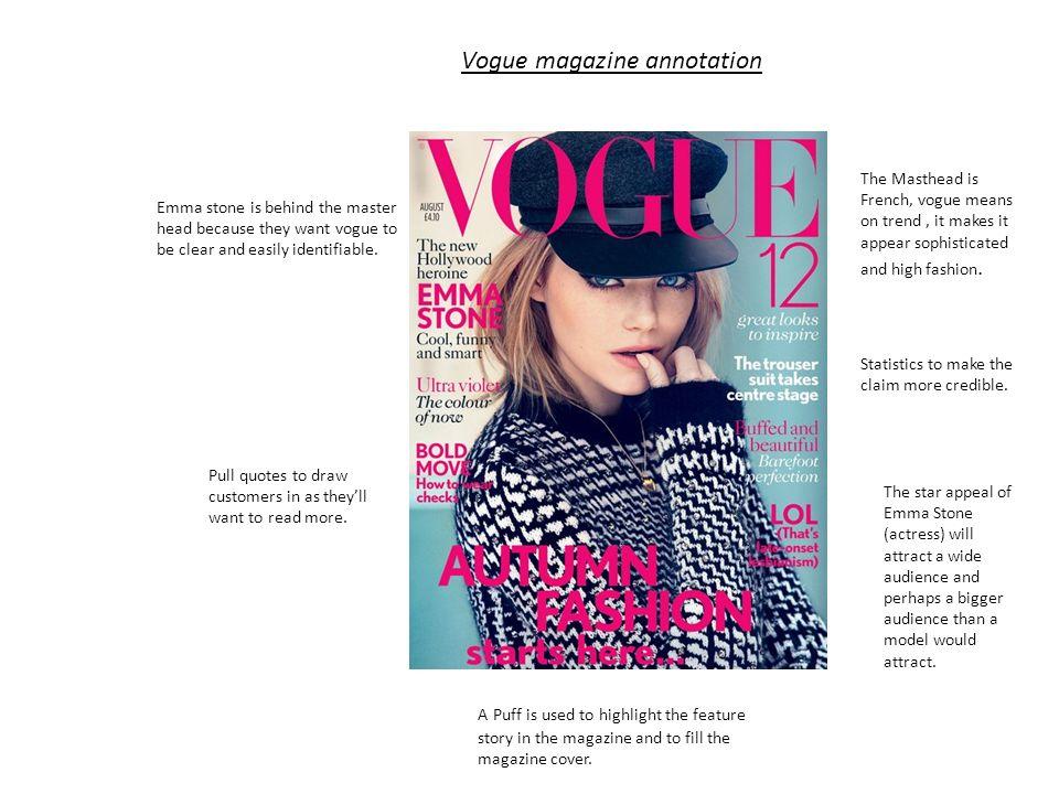 Vogue Magazine Annotation Ppt Video Online Download