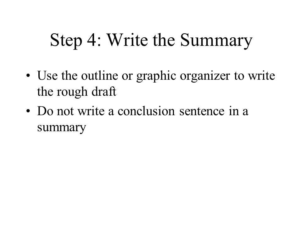 How do you write a 3-5 paragraph summary?