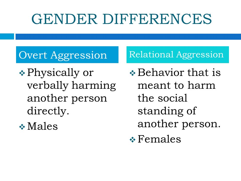 relationship gender differences in aggression