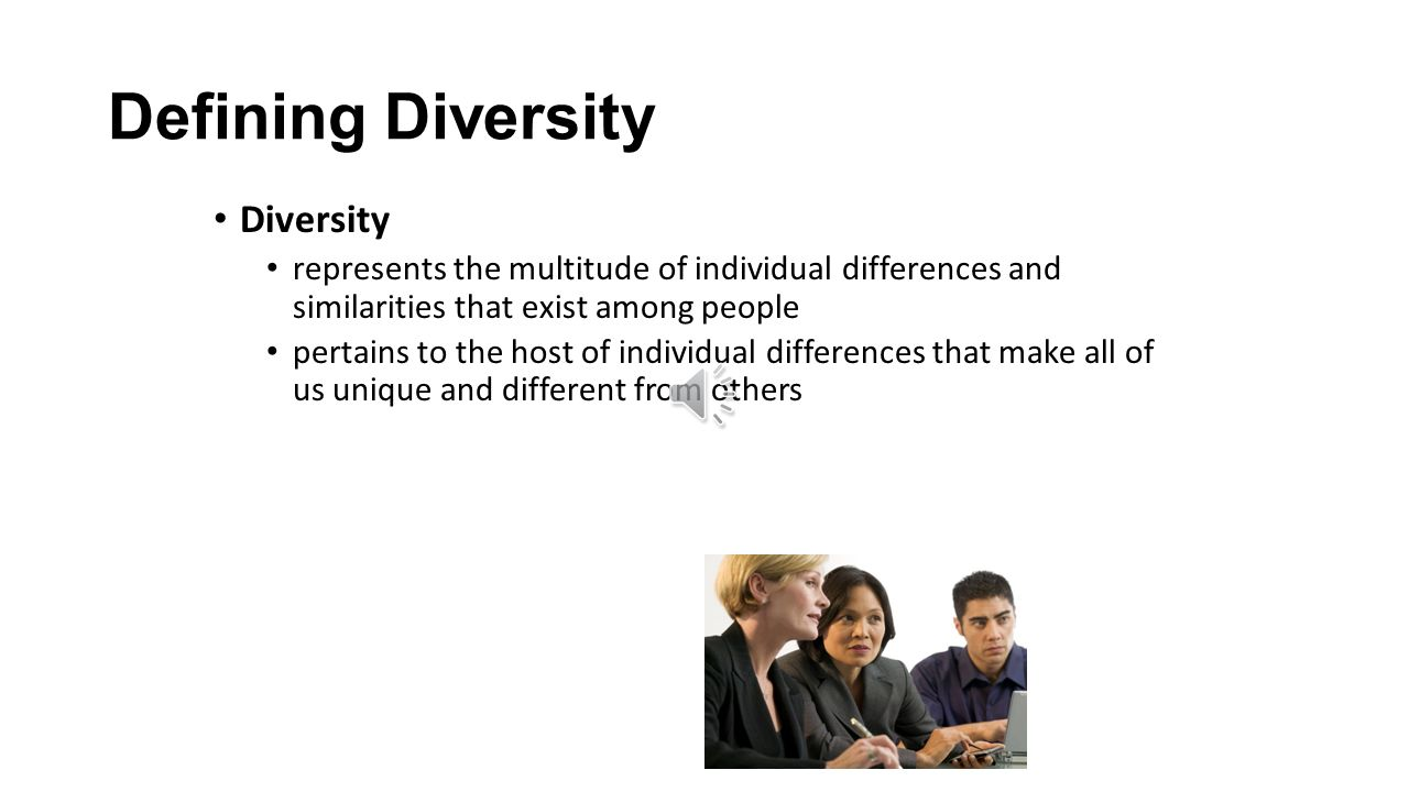 defining diversity the evolution of diversity That diversity also refers to cognitive diversity such as differences in mental models, problem solving frameworks and perceptions in how to see the world we define inclusion as a state of being valued, respected and involved.