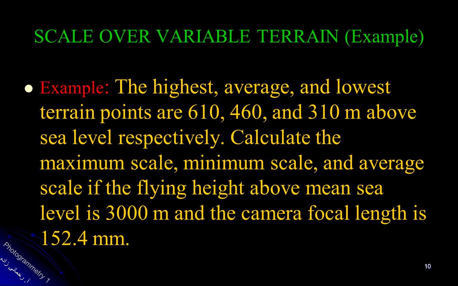 فصل مشخصات و هندسه عکس قائم Ppt Video Online Download - Above sea level calculator