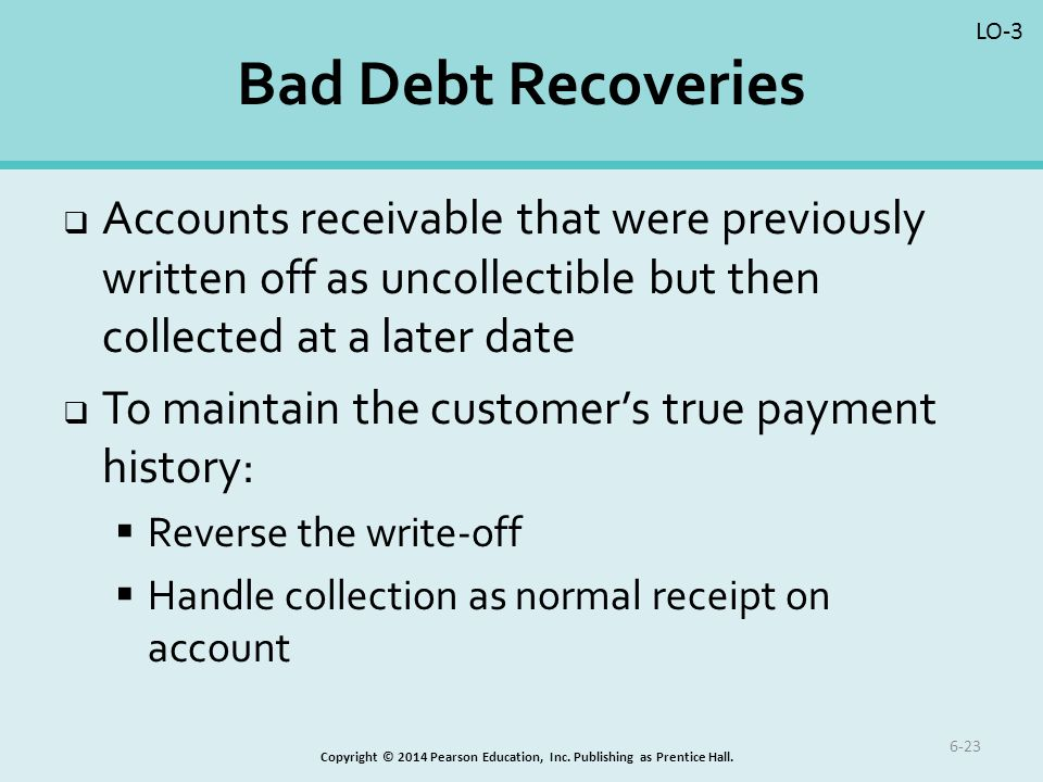 how to write invoices off as bad debt
