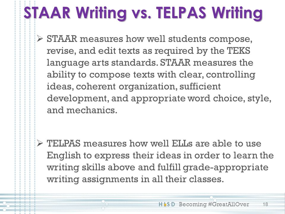 telpas writing prompts Telpas (texas english language proficiency speaking, reading, and writing telpas assesses students in expository writing prompts new manual telpas.