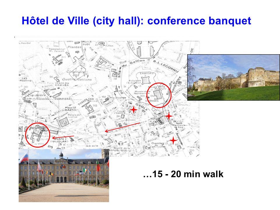 Hôtel de Ville (city hall): conference banquet