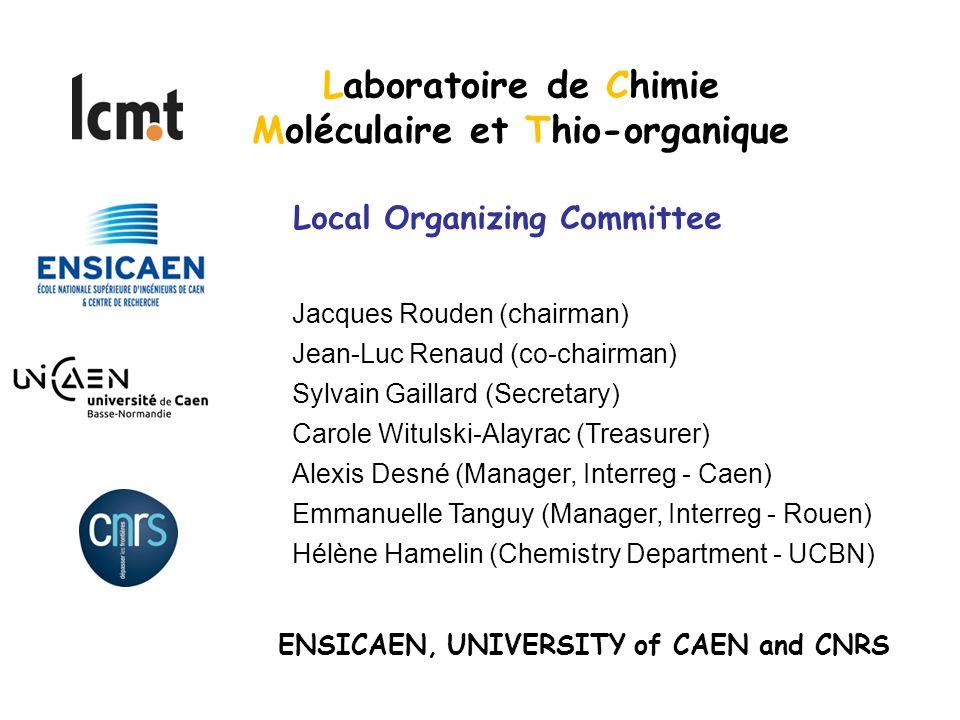 Moléculaire et Thio-organique ENSICAEN, UNIVERSITY of CAEN and CNRS