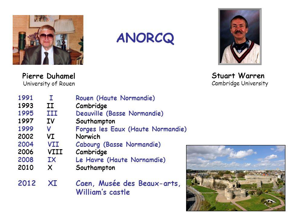 ANORCQ Pierre Duhamel Stuart Warren XI Caen, Musée des Beaux-arts,