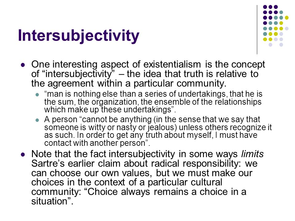 responsibility and choices according jean paul sartres existentialism The most important aspects of jean-paul sartre's existentialist philosophy   because once thrown into the world, he is responsible for everything he does   according to sartre, each choice we make defines us while at the.
