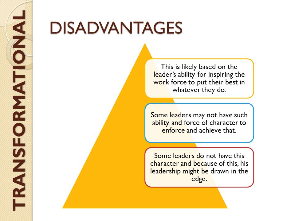 disadvantage of leadership Laissez-faire leadership is a hands-off approach that allows followers to set rules and make decisions discover the pros and cons of this style.