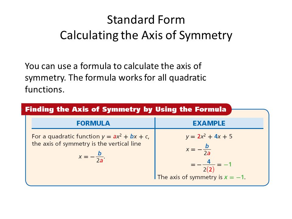 Standard Form of a Quadratic Function Lesson 4-2 Part 1 - ppt download