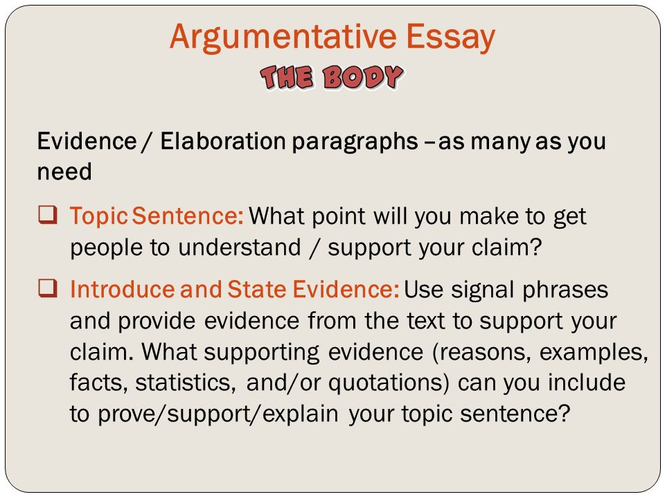 Examples of argutive essays claims