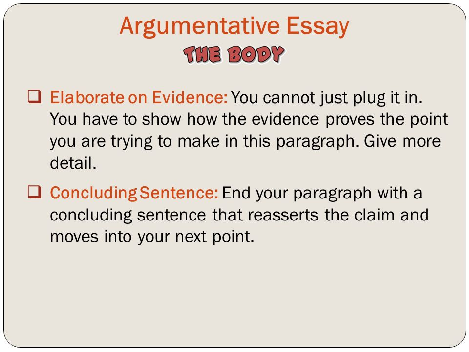 in an argumentive essay Argumentative essays are kind of like superpowers: they allow you to get what you want using the superpower of persuasion view this lesson and.
