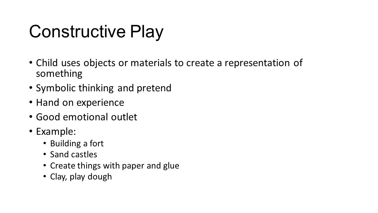 Symbolic play activities for preschoolers gallery symbol and childs play play is a childs work ppt download constructive play child uses objects or materials buycottarizona